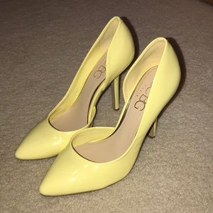 BCBG Yellow Heels